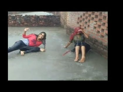 Girl Enjoy Rain In Pakistan . Village Girl . 2019 Video