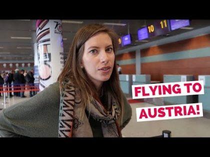 Austrian Airlines flight from Ukraine to Austria travel vlog (Lviv – Vienna – Innsbruck – Kitzbühel)