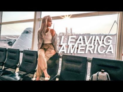 leaving america for the first time   travel vlog part 1