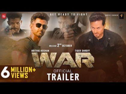 WAR Movie Trailer | Hrithik Vs Tiger Movie | Hrithik Roshan, Tiger Shroff, Hrithik Vs Tiger Trailer