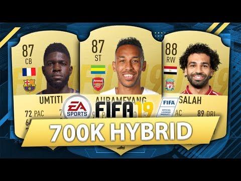 FIFA 19: BEST POSSIBLE 700K SQUAD BUILDER (700K HYBRID)