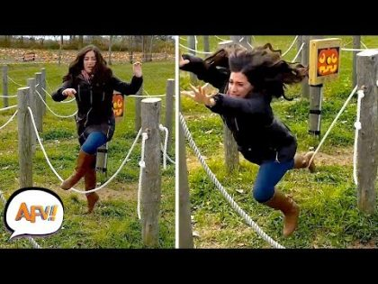 Girl DEFEATED by ROPE | Epic Fails | AFV 2019