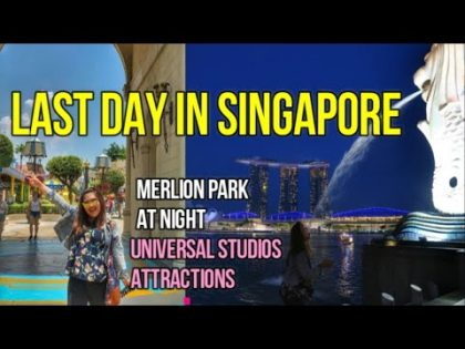 MERLION PARK AT NIGHT & UNIVERSAL STUDIOS MAIN ATTRACTIONS| TRAVEL VLOG