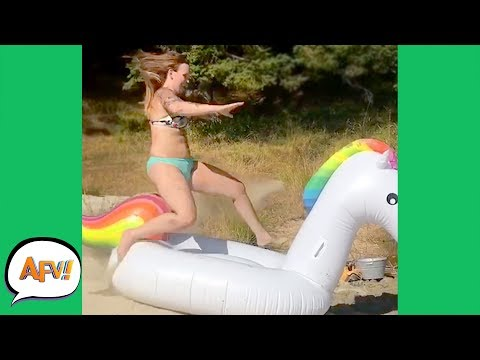 Her LANDING WON'T Be MAGICAL! 🦄 😂 | Funniest Fails | AFV 2019