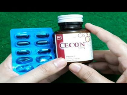 Best Two Vitamins For Your Health And Beauty. Cecon Vitamin C Tablet And Sangobion Capsules.