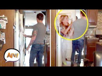 Wife Scares Unsuspecting Husband! | Funniest PRANKS | AFV 2019