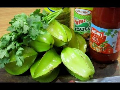 SPECIAL Tasty Masala Star Fruit ( Kamranga ) – Indian Street Food Recipe – Kolkata Bengali Style