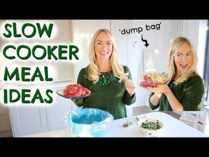 4 SLOW COOKER MEAL IDEAS  |  DUMP BAG RECIPES