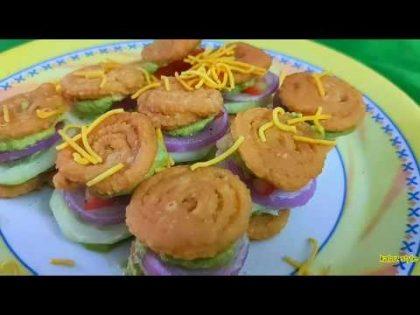 Murukku Sandwich – Street food recipe || Chat Items