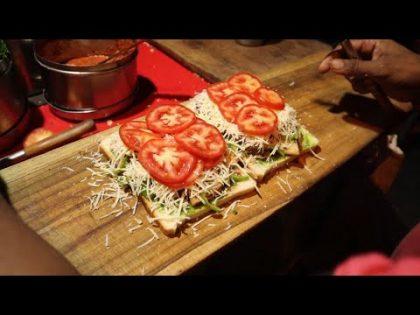 Samosa Cheese Grilled Sandwich Recipe | Ghatkopar Khau Galli | Indian Street Food 2020
