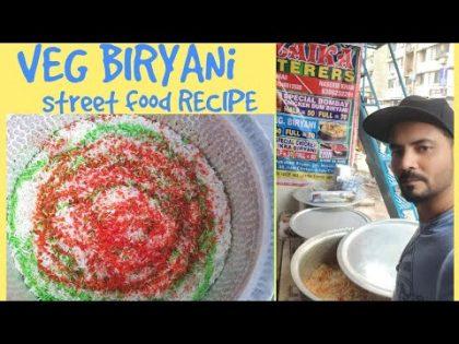 How to make VEG BIRYANI | Vegetable Biryani Street Food Recipe | Food Vlog with Mohsin