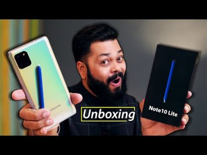 Samsung Galaxy Note 10 Lite Unboxing & First Impressions ⚡⚡⚡Power Of S-Pen Under 40000