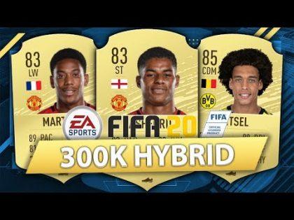 FIFA 20: BEST POSSIBLE 300K SQUAD BUILDER (300K HYBRID)