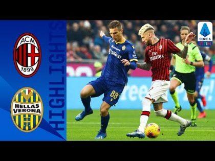 AC Milan 1-1 Hellas Verona | 10-Man Verona Hold on to Draw After Calhanoglu's Freekick | Serie A TIM