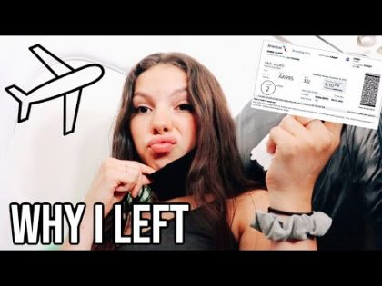 Teen Mom Travel Vlog l Leaving Our New Home For A Little While