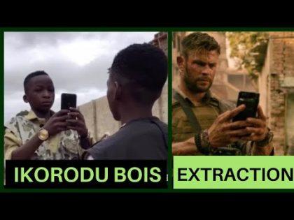 Ikorodu Bois ft Extraction Trailer  Chris Hemsworth Official Invite to the Premiere  Tega Clifford