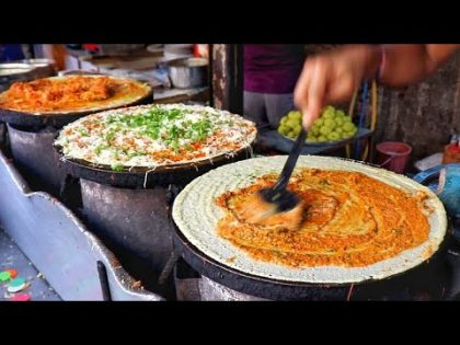 Anand Dosa #Mumbai  | India's No.1 Dosa Stall | Jini Dosa Recipe | Indian Street Food Recipe