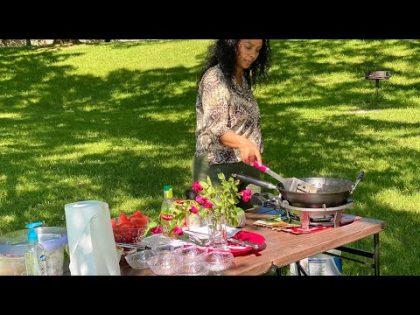 የአሜሪካ ጫካ ( park ) ውስጥ ቡና -Bahlie tube, Ethiopian food Recipe