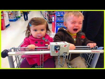Funniest Moments Cute Babies Shopping – Funny Fail Videos