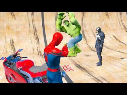 GTA 5 Epic Ragdolls Spiderman Vs Hulk Funny Fail Moments In Euphoria Physics. EP.23