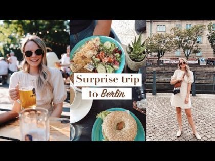SURPRISE TRIP TO BERLIN   TRAVEL VLOG   An apartment tour, beer garden + the city   ANDREA CLARE