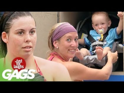 Woman Leaves Baby In Locker – Just For Laughs Gags