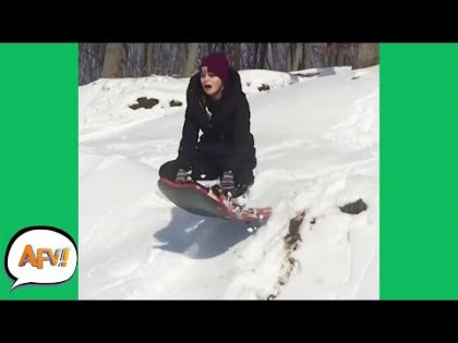 FLYING Into the FAIL! 😆🛷 | Funny Videos | AFV 2019