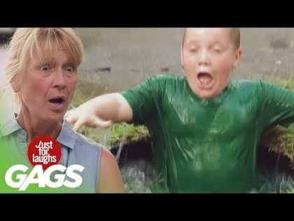 Kid Falls into Puddle Prank – Just For Laughs Gags