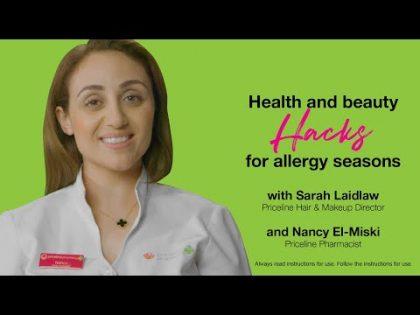 Health and beauty hacks for allergy seasons