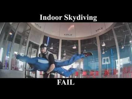 Indoor Skydiving FAIL