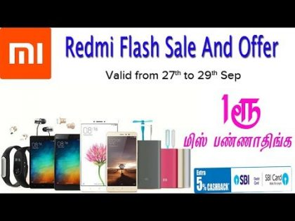 Redmi Diwali Flash Sale And Mobile gadget offers detail