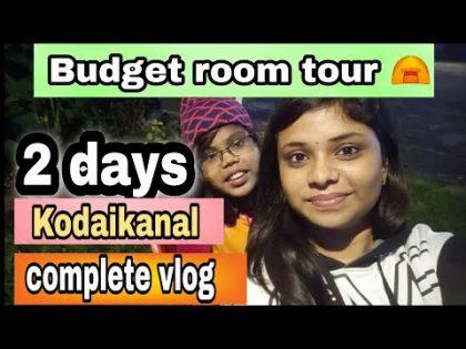 🥶செம பனி🌨️cheap rate room tour  kodaikanal travel vlog⛺🧳