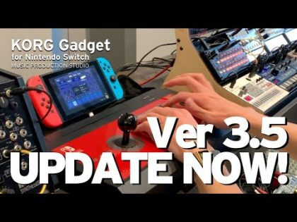 UPDATE NOW! KORG Gadget for Nintendo Switch Ver 3.5