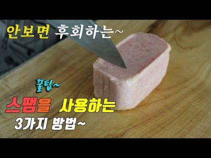 간단하고 맛있는 스팸 요리 3가지~ 강쉪^^  korean food recipe, 3 kinds of spam recipe,