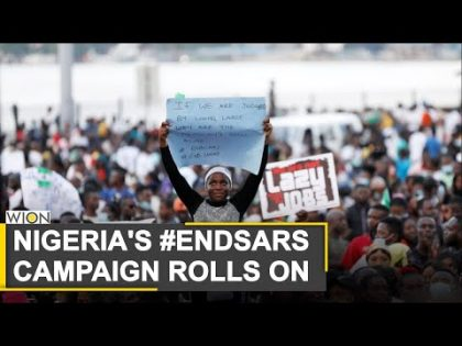 Protests against police brutality continues in Nigeria | Lagos | Nigeria Protests | World News