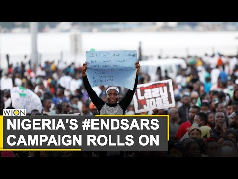 Protests against police brutality continues in Nigeria   Lagos   Nigeria Protests   World News