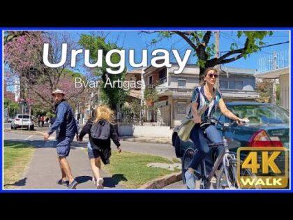 【4K】WALK Montevideo Uruguay 4K video WALKING UY Travel vlog