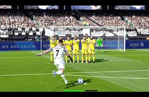 PES 2021- Cr7 Freekick Juventus 2-1 Hellas Verona | ITALY – SERIE A 20/21| Highlight | Gameplay PC