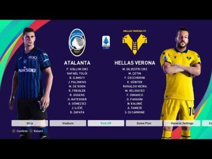 Atalanta Vs Hellas Verona //  Italian Serie A 2020/21  // Full Match & Gameplay //PES 2021