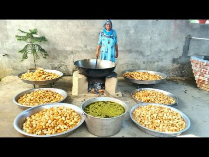 10000 GOLGAPPE PREPARED BY MY GRANNY   PANI PURI RECIPE   INDIAN STREET FOOD   GOLGAPPA RECIPE