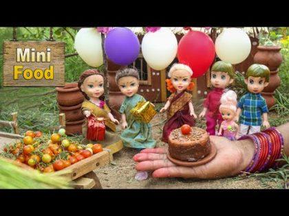 Miniature Tomato Cake Recipe   Village Recipe   Mini Cooking   Tiny Cooking   Mini Food Cooking
