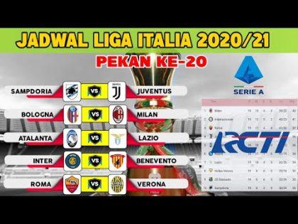LIGA ITALIA MALAM INI – JADWAL SERIE A 2021 PEKAN 20   SAMPDORIA VS JUVENTUS (LIVE RCTI)