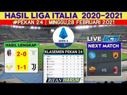 Hasil Liga italia Tadi Malam | Verona vs Juventus | Klasemen Serie A 2021 | Hasil Bola Tadi Malam