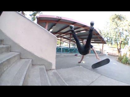 100 SKATEBOARD SLAMS! / Skateboard Fail Montage