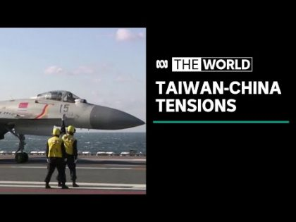 Record number of Chinese military jets fly over Taiwan | The World