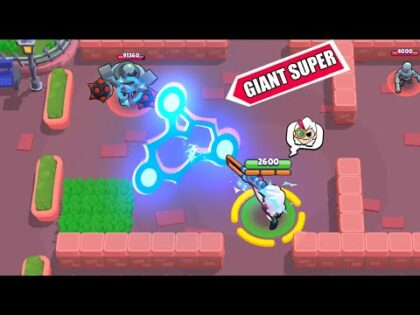 Glitch GIANT Super Belle ! Brawl Stars Funny Moments & Fails & Win #351