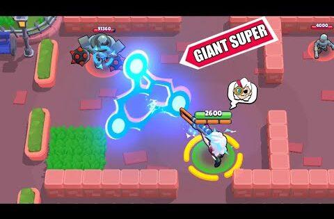 Glitch GIANT Super Belle ! Brawl Stars Funny Moments & Fails & Win #351