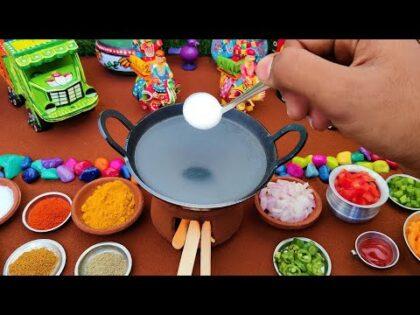 Miniature Neer Dosa + Tomoto Chutney | Miniature Cooking | Easy Breakfast Recipe | Mini Food