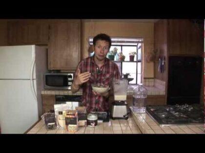 Hemp Milk Baobab Granola Cereal: Vegan Raw Food Recipe