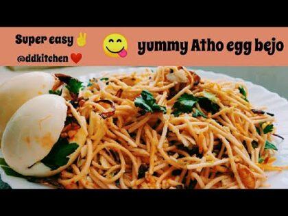 அத்தோ | Atho Burmese Food Recipe in Tamil / Chennai Famous Street Food Atho Burma Food Atho Recipe